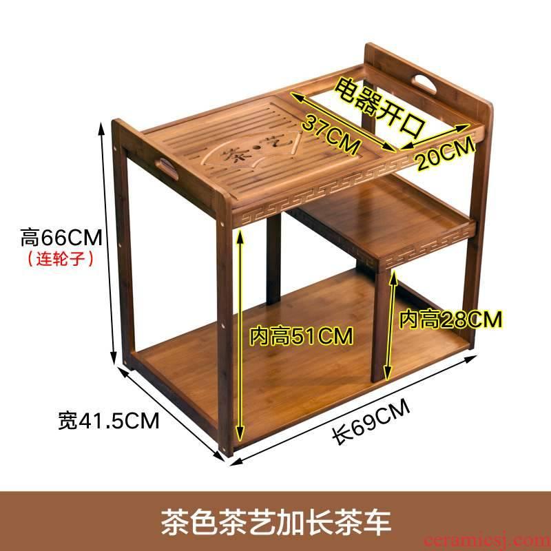Mobile home small tea table, making tea mini tea table tank car sitting room balcony boiling water tea tea tea set to receive a shelf