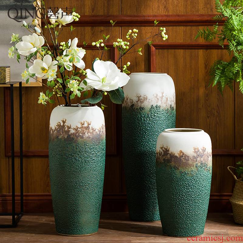 Ceramic vase furnishing articles sitting room TV ark adornment flower arranging dried flower porcelain contracted and I household decoration POTS
