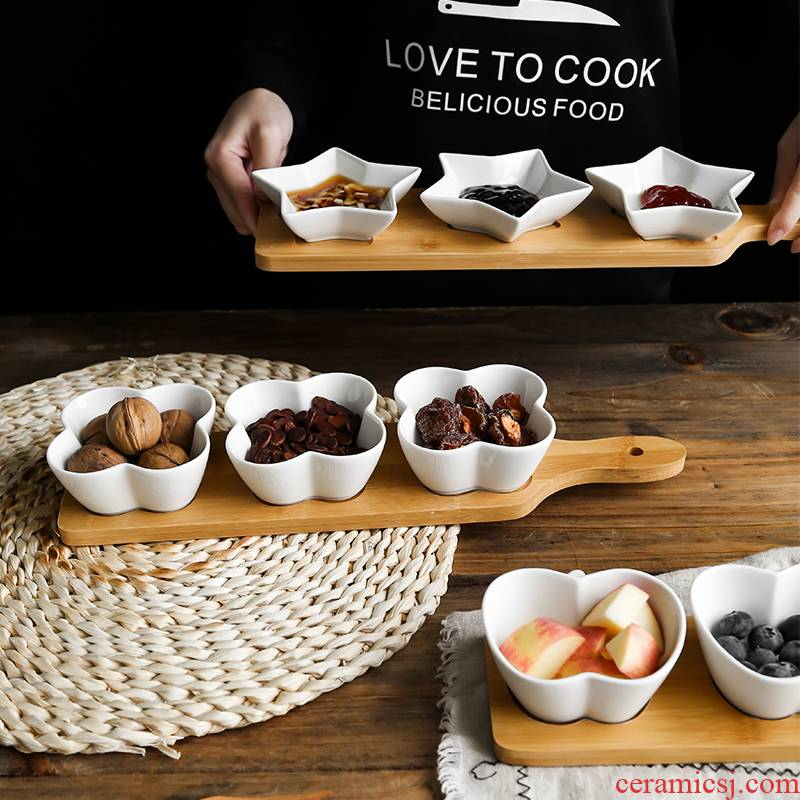 Ceramic small dishes to try dish space the nut plate snack plate Nordic dessert fruit sauce bowl is easy adjustment
