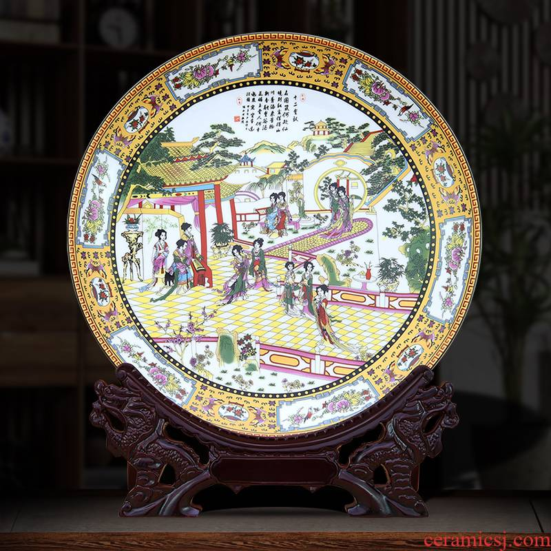 Jingdezhen porcelain furnishing articles Chinese blue and white porcelain plate decoration classical Ming and the qing dynasty porcelain decoration plate