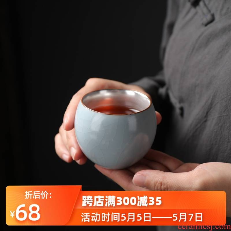 999 sterling silver ceramic cups coppering. As silver sample tea cup kung fu tea set brother single master cup silver cup your up up tea cups