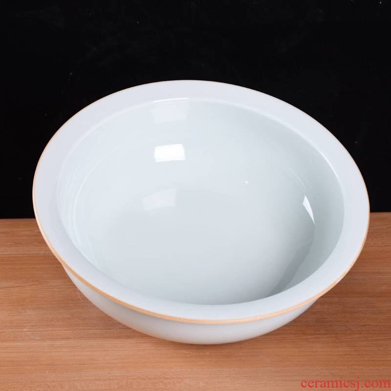 Jingdezhen ceramic knead and basin basin basin of boiled fish home more large porcelain basin