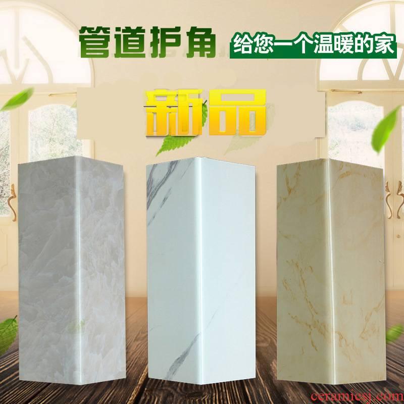 L color PVC decorative ceramic tile barrier pipe package pipes kok gusset plate decoration plate
