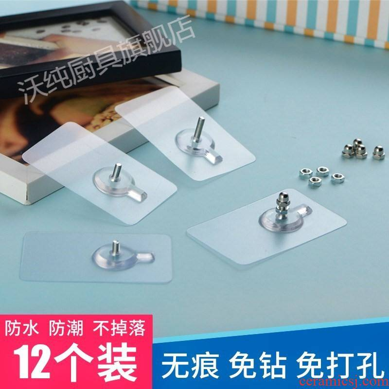 Frame small ceramic tile hook hanging wall holing free calligraphy and painting decorative nails mural non - trace'm equipment not wall absorption