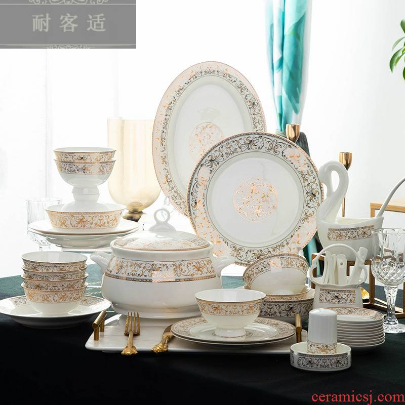 Hold to guest comfortable jingdezhen ceramic tableware suit 0 home gift the sun island ipads porcelain bowl customize LOGO