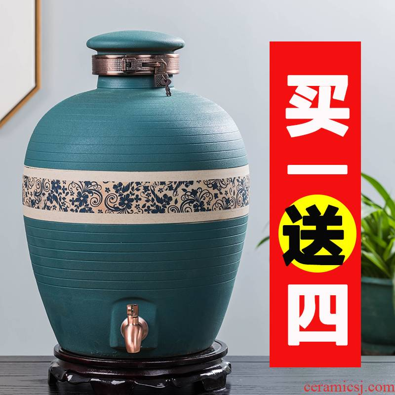 Household jingdezhen ceramic jar 20 jins 30 jins deacnter empty jars make wine wine liquor pot of it
