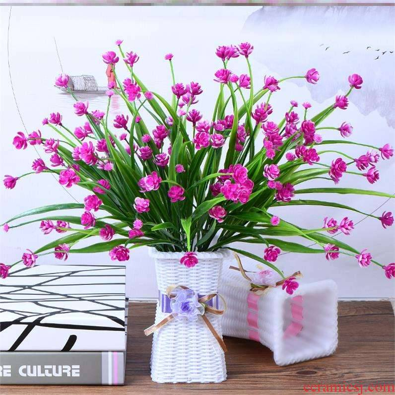 Small place indoor decorative flower table sitting room simulation fake flower tea what vases of TV ark, home wine