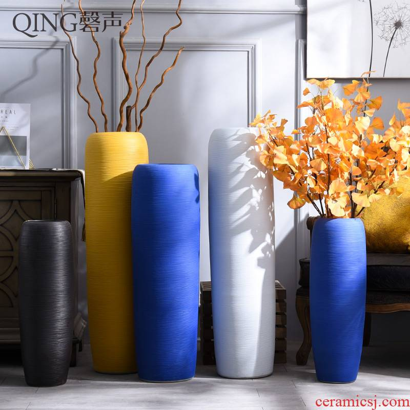 Simulation of large vase flowers suit sitting room of I and contracted household decorative dried flowers flower arrangement large - sized ceramic furnishing articles