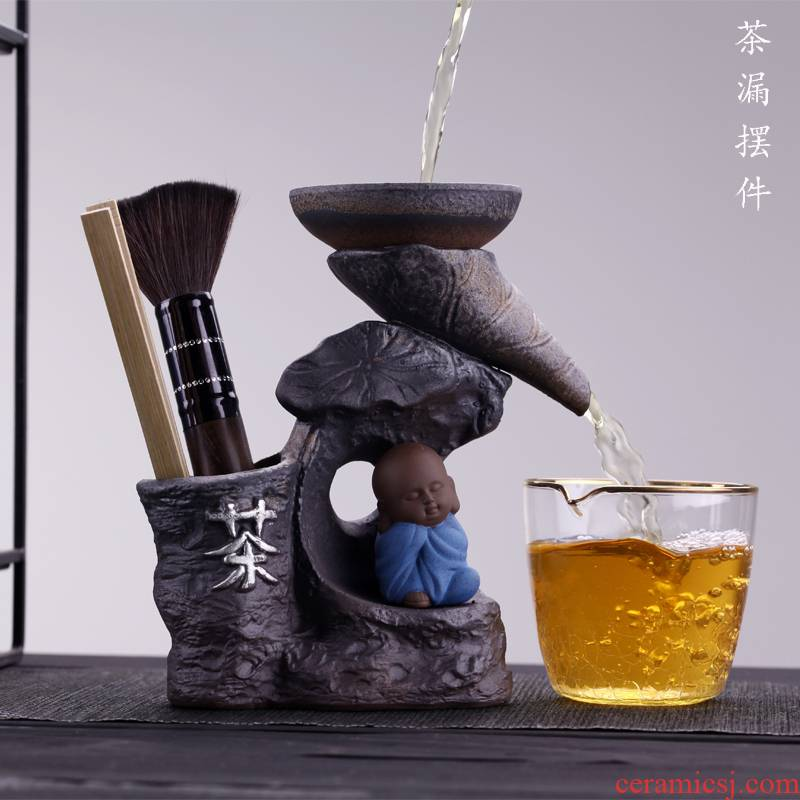 Morning high coarse pottery tea) stent filter frame YangHuBi ChaGa suit lazy) filter tea accessories