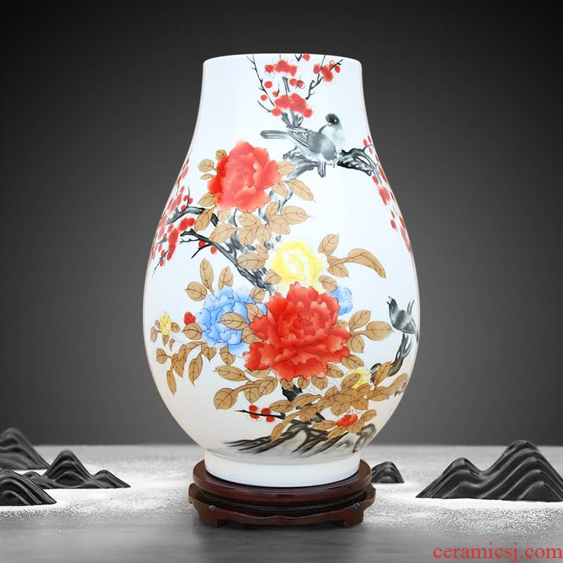 Jingdezhen porcelain large vase handicraft furnishing articles sitting room porch open office decoration porcelain decoration