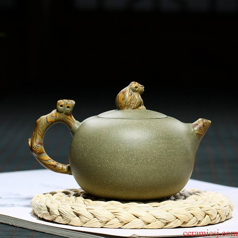 Yixing masters are it checking kung fu tea set the teapot teacup single pot teapot spirit monkey in delight