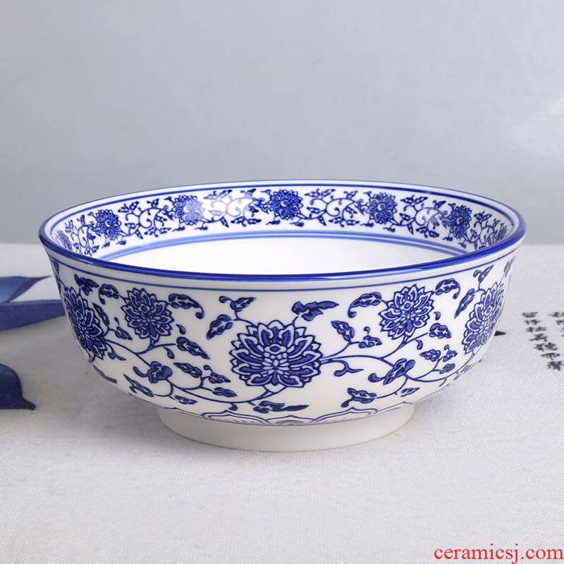 Orchid bowls lanzhou ramen noodles chongqing small surface of blue and white porcelain ceramic hot large household noodles rice