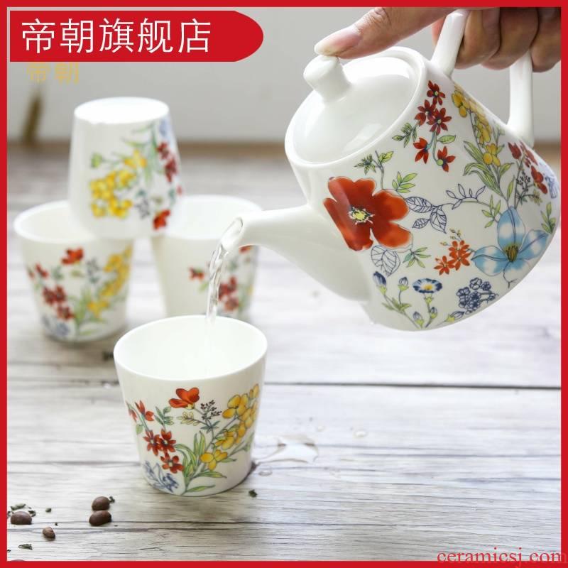 Emperor toward Korean ceramic the plants and fruit tea flower pot teapot tea flower pot home a complete set of tea sets