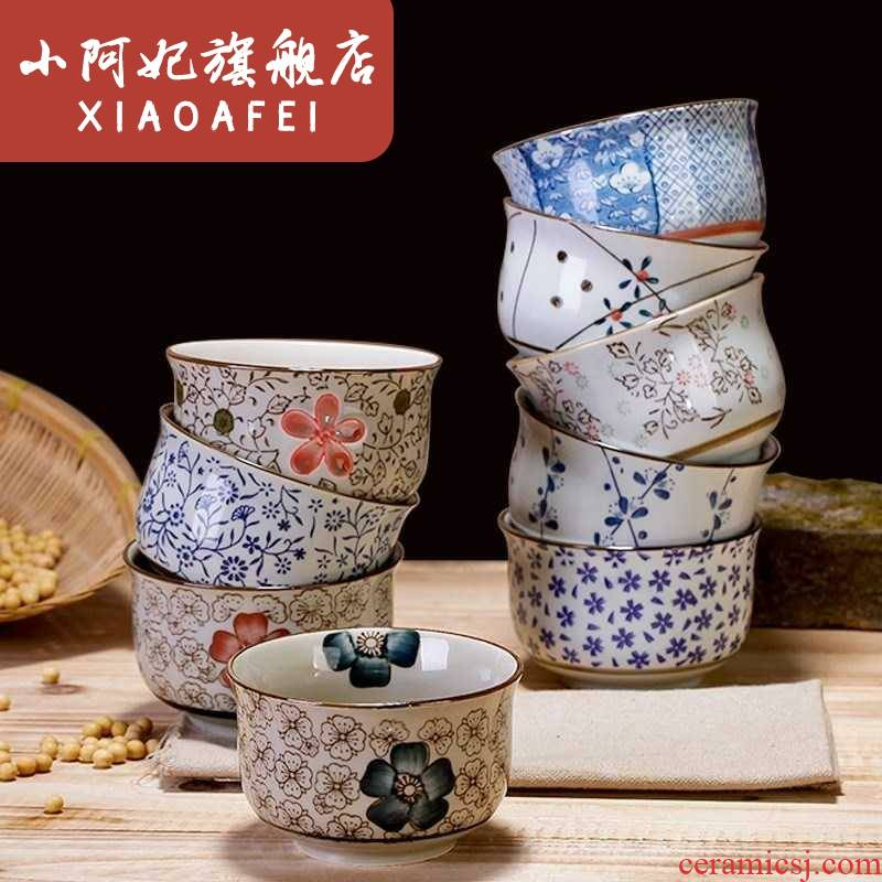 The Ceramic bowl chopsticks eating a small bowl of rice, individuality creative lovely home children suit thickening bowl of adults