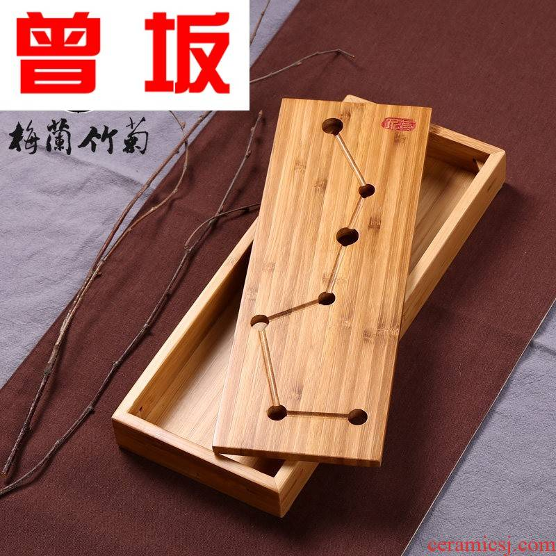 Once sitting kung fu tea tea tray tea sets tea sea water contracted bamboo bamboo small mini saucer dish dry mercifully machine