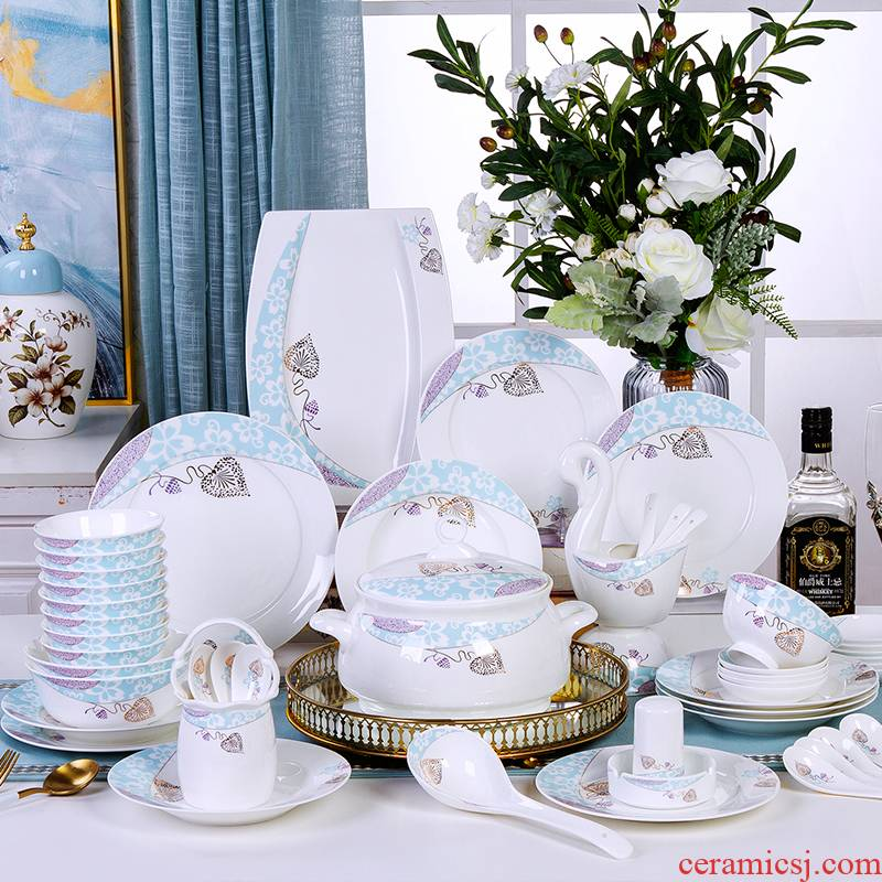 The Antarctic treasure bowl chopsticks kit home dishes ipads porcelain tableware Europe type apparatus for dinner set bowl dish/Chinese style combination