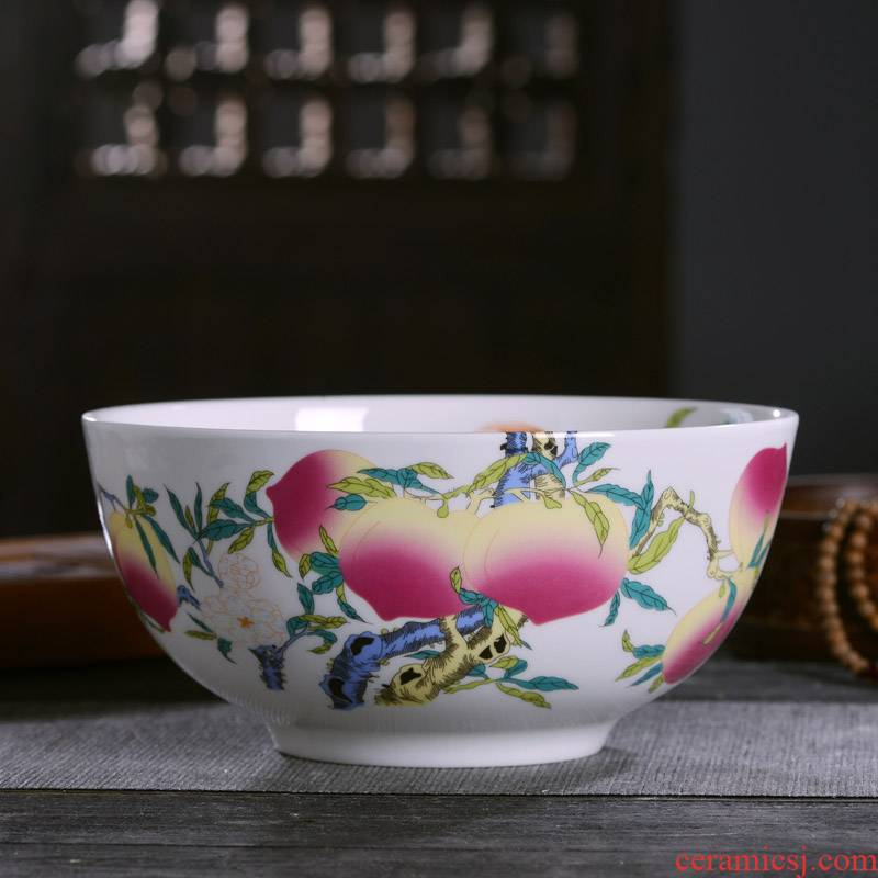 Jingdezhen ceramics commemorative gifts custom Chinese ipads porcelain tableware was 1 bowl of rice gruel archaize of big noodles in soup bowl
