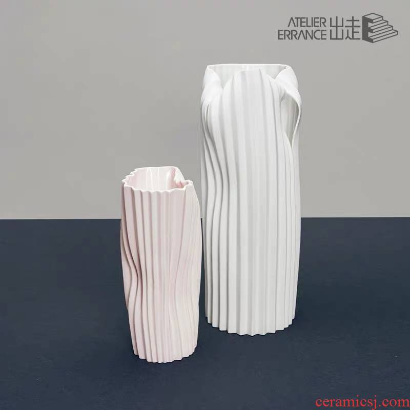 Official authorization flee Atelier Errance morandi color small design ceramic flower vase decoration