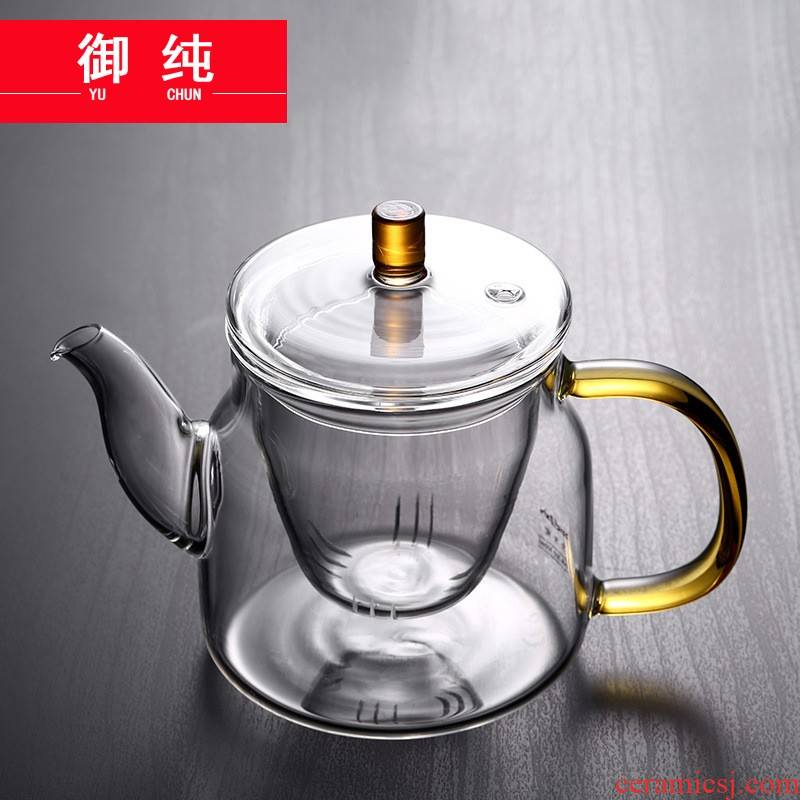 Royal pure teapot high temperature filter tea household glass tea kettle boil tea kungfu tea set