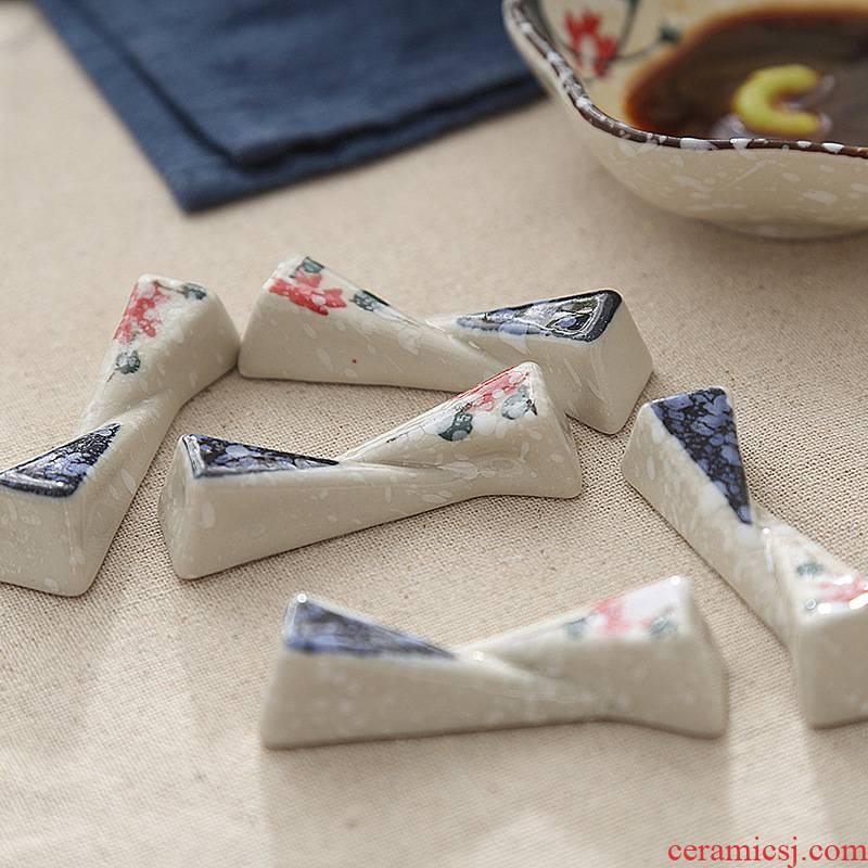 1 Japanese manufacturer ceramic creative frame plate rack express chopsticks spoons, small place hotel home