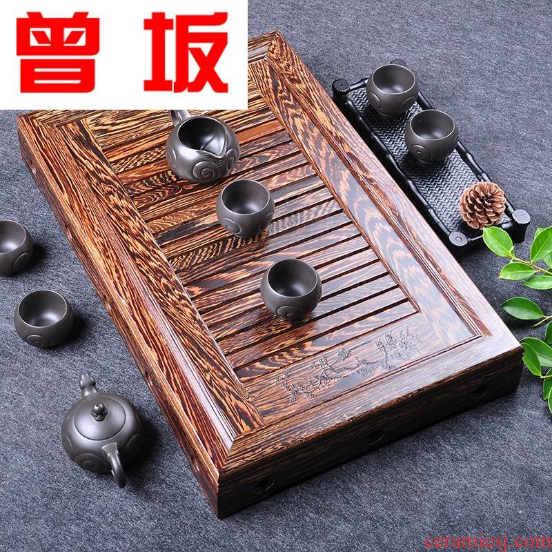 The Who -- chicken wings wood tea tray, small solid wood tea tray annatto tea sea drainage type tea table of a complete set of kung fu tea set sandalwood