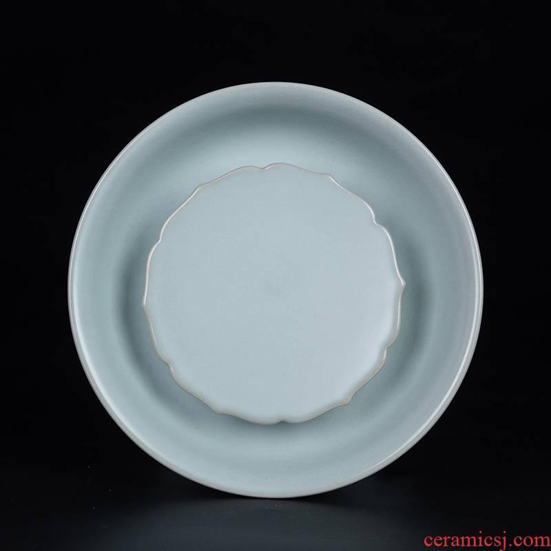 And your up pot pot bearing jingdezhen ceramic tea set accessories kung fu tea pot pad Chinese dry terms trays