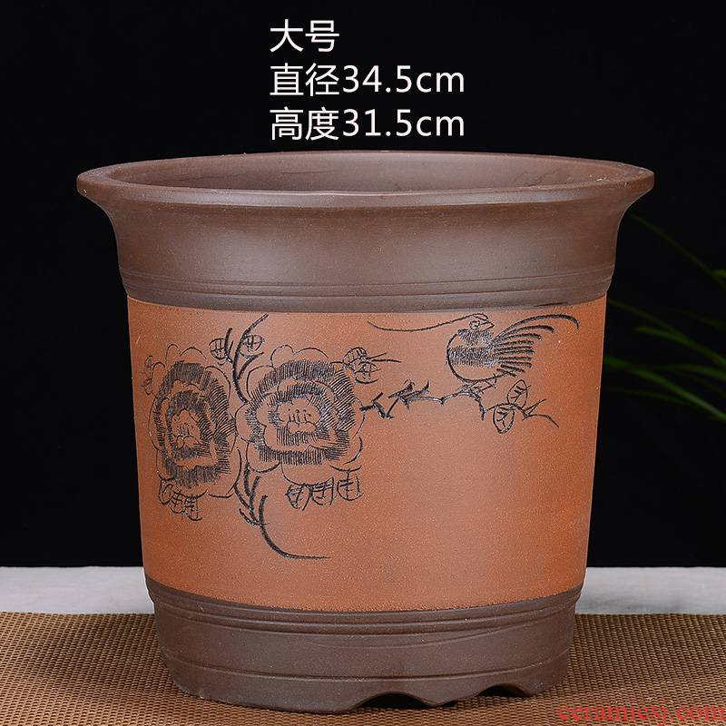 Flowerpot big yards extra large purple sand Flowerpot orchid basin big caliber ceramic flower pot plant trees flower pot special offer a clearance