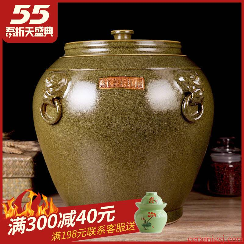 Barrel ceramic seal with cover 50 jins home wine jar surface tank pickled kimchi barrels of oil reservoir ricer box can of 30