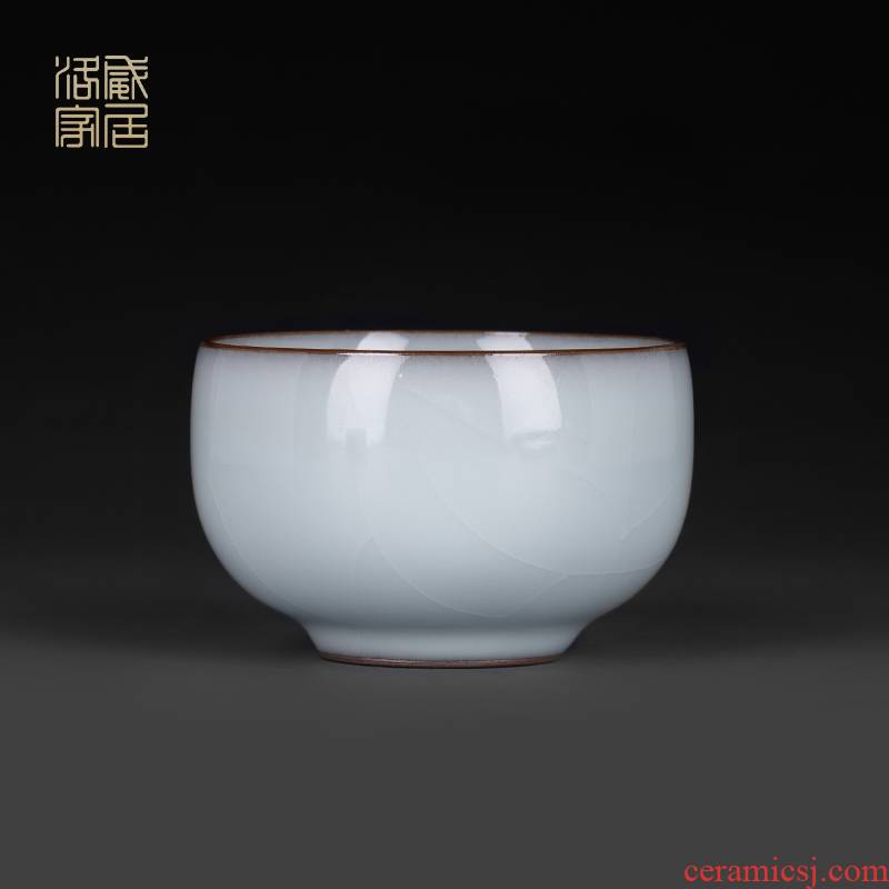 Jingdezhen guanyao kung fu tea cups, ceramic sample tea cup high - end single tea master cup small single CPU