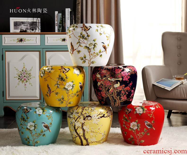 Jingdezhen American country ceramic drum who cold pier in shoes who toilet who courtyard pavilion dry who Chinese handicraft furnishing articles