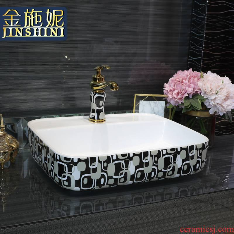Gold cellnique jingdezhen ceramics on the sink bathroom small size of the basin that wash a creative modern wind the lavatory