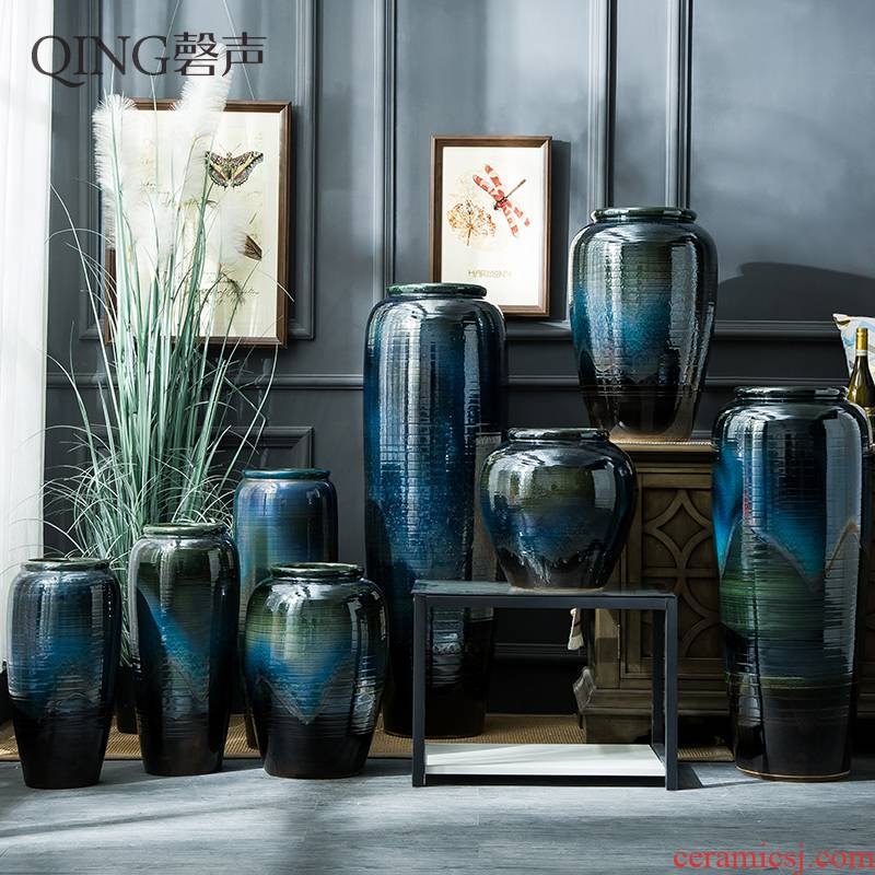 Ceramic vase furnishing articles of large living room TV cabinet flower arranging dried flower vases household contracted and I decorative POTS