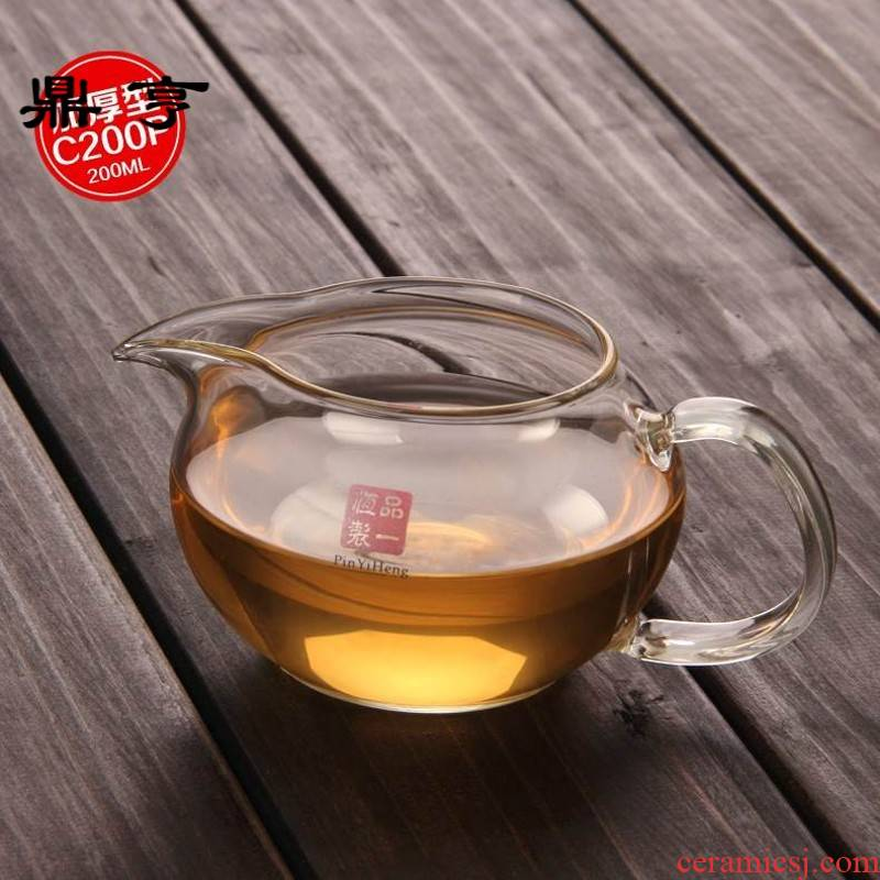 Ding heng heat points and cup of tea ware sea large kung fu tea kettle) set a reasonable constant glass cup