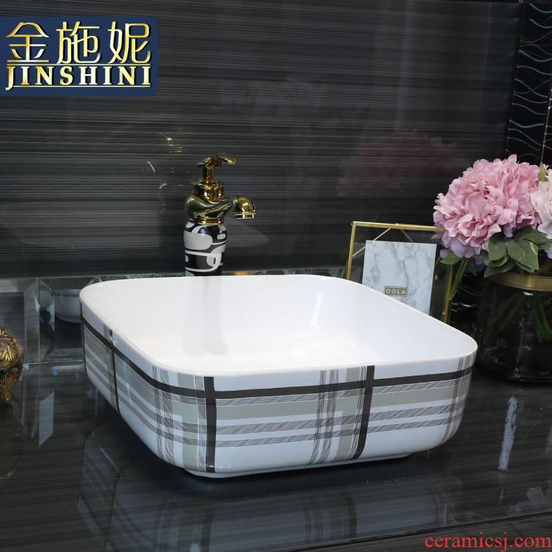 Gold cellnique jingdezhen ceramics stage basin, art basin sink toilet lavabo, modern urban wind