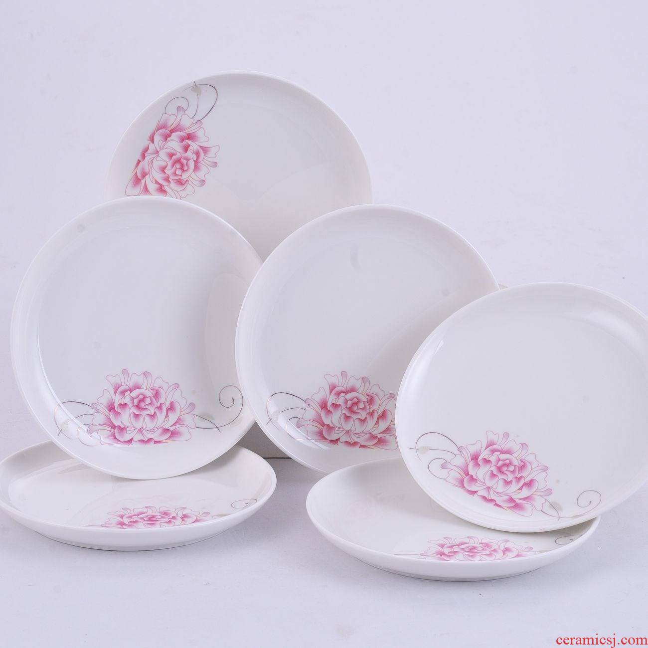 Six pack snack plate 5.75 inch small ipads plate ceramic plate cake dish vomit ipads disc plate KTV small plate