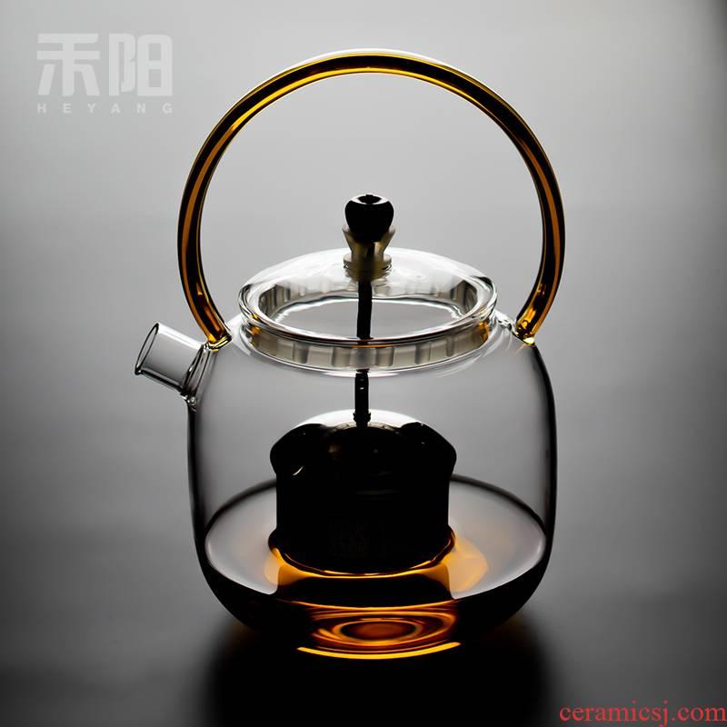 Send Yang heat - resistant glass rod boil tea is black tea pu - erh tea steam pot of cooked pot large girder