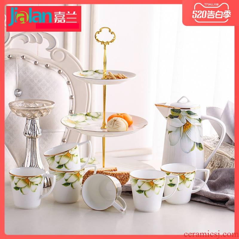 Garland ipads porcelain suit European contracted with creative household utensils cold hot water kettle of water cup five combinations