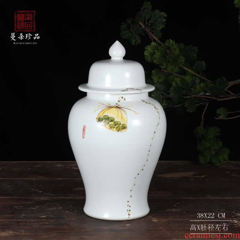 Jingdezhen general hand - made inferior smooth white tank general fashion modern decoration mesa of modern decorative ceramic pot