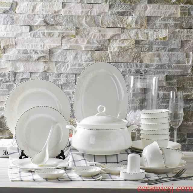 Cutlery set dishes home European 56 skull bowls up phnom penh dish bowl chopsticks sets ceramic tableware combo box