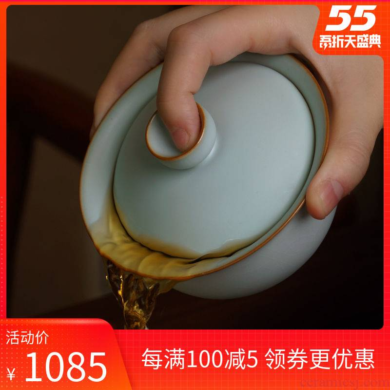 Your up tureen tea cups a single large bowl of jingdezhen porcelain three cups of checking ceramic tea set ice crack glaze