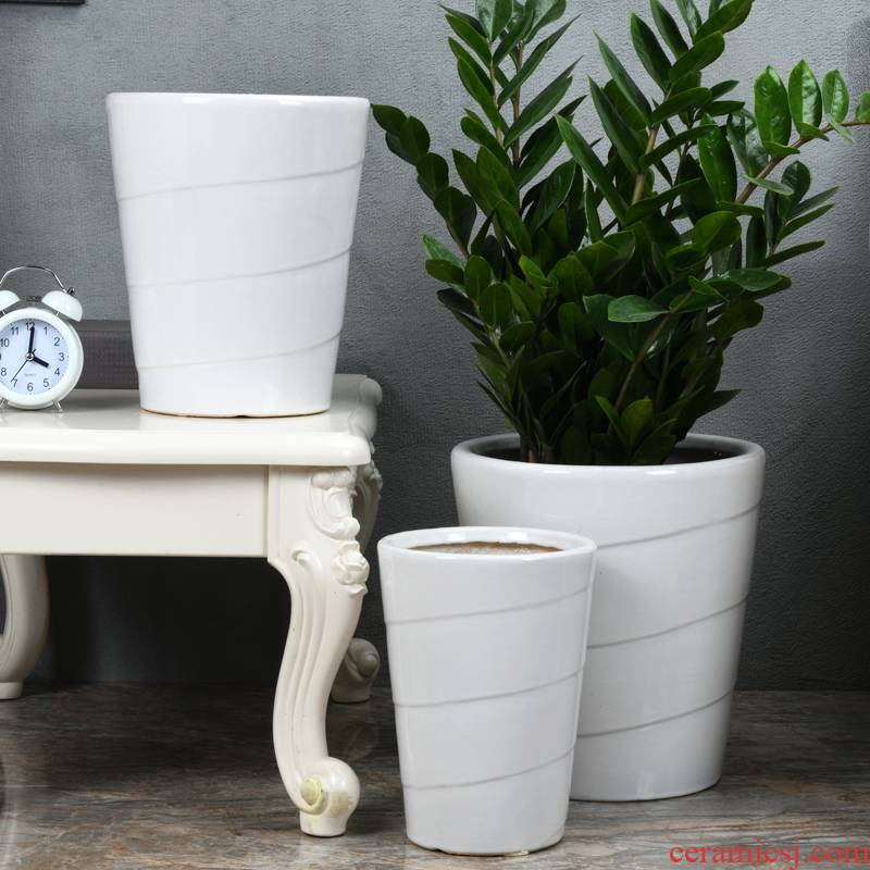I and contracted flowerpot ceramic extra large wholesale green plant rich tree garden flowerpot pack mail that occupy the home office