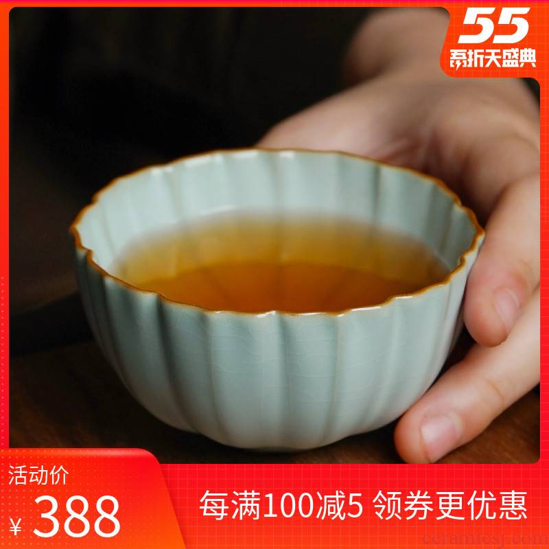Your up jingdezhen bowl with a single master cup single CPU checking ceramic cups gift boxes to open the slice Your porcelain ice crack glaze