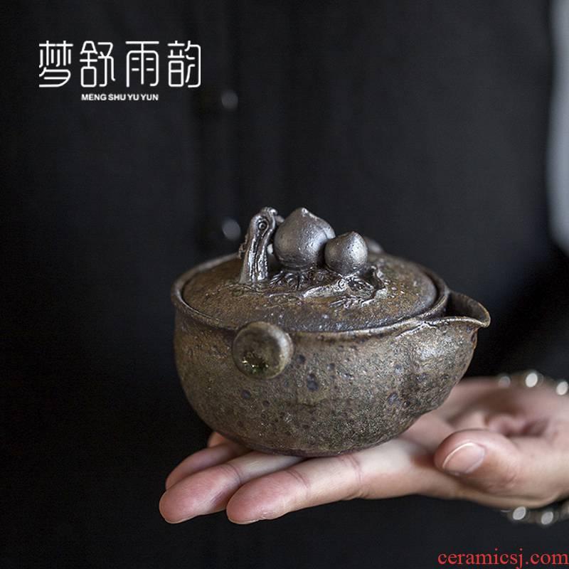 Dream ShuYu rhyme pure manual hand embryo hand grasp pot of ceramic teapot creative originality of refined single pot teapot enjoying