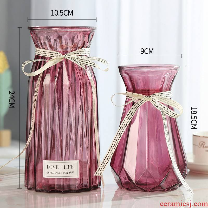 The new imitation ceramic vase glass resin from furnishing articles sitting room dried flowers, plastic flower arranging Japanese flower arrangement