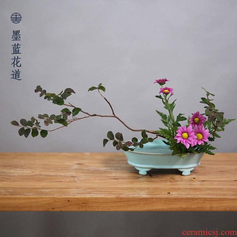 Archaize your up refers to basin ceramic hydroponic flower pot flower implement zen Chinese flower arranging his Japanese ikebana vessels