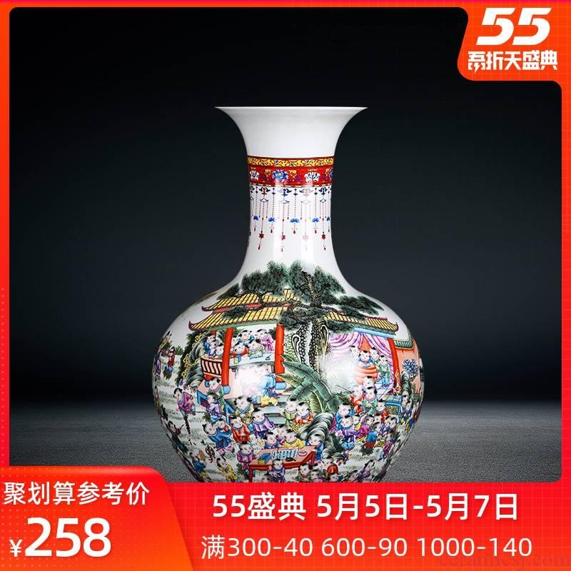 The ancient philosophers jingdezhen ceramics figure sitting room porch flower arranging device of large vase household adornment furnishing articles porcelain
