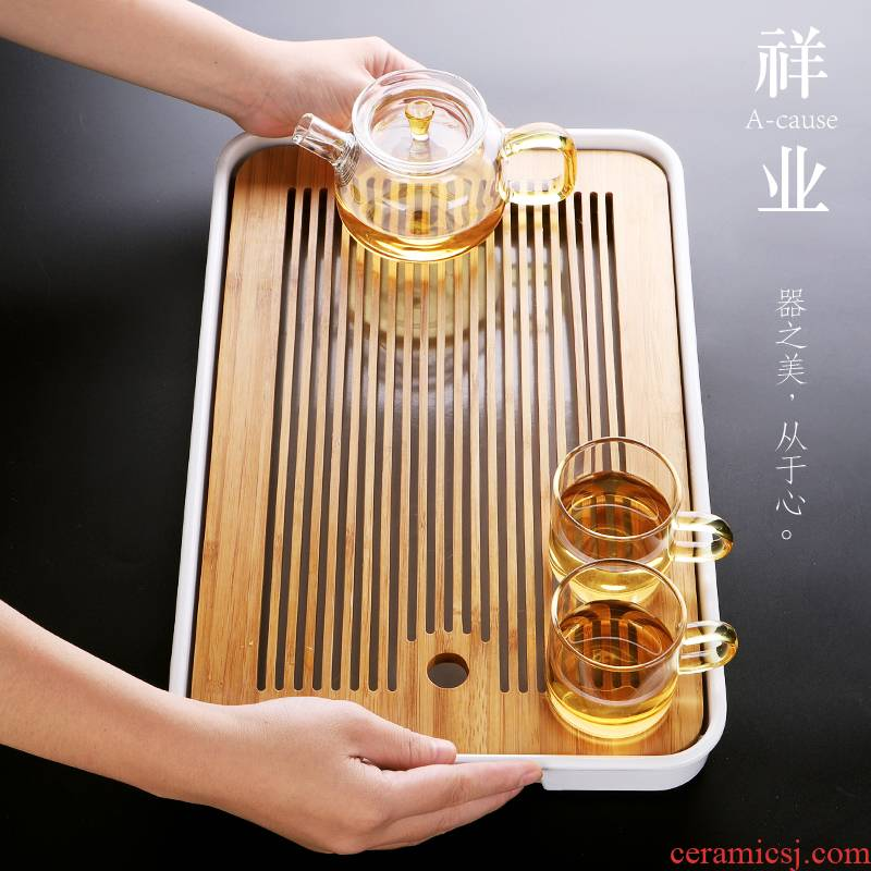 Auspicious industry small tea tray two people use simple kung fu tea tray was drop tea saucer Japanese storage units