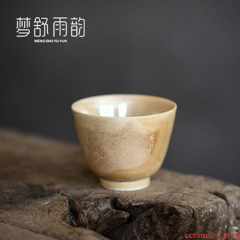 Dream ShuYu rhyme checking coarse firewood cup after getting the sample tea cup personal single CPU ceramic tea set the master CPU