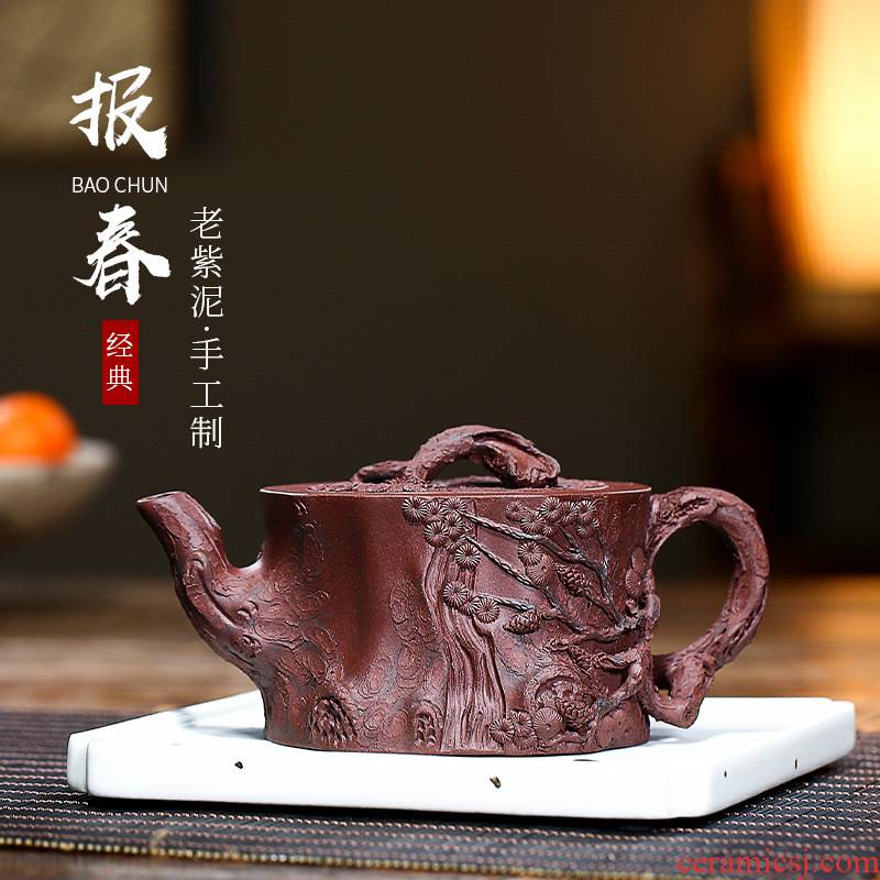 Leopard lam manual it old purple clay teapot yixing creative style flowers goods may running JinHe packing home office