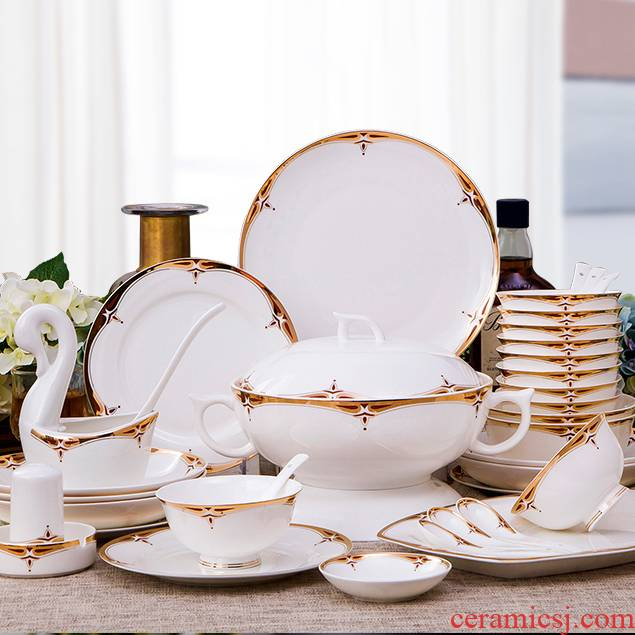 Antarctic treasure suit household combination dishes ipads China continental dishes chopsticks contracted ceramic bowl dishes for dinner